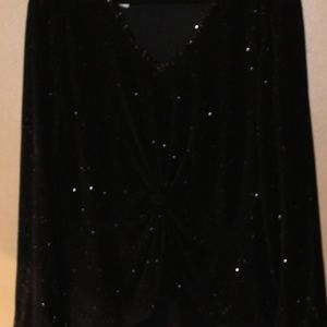 Patra Dresses - Long Black Gown with Embellished Top